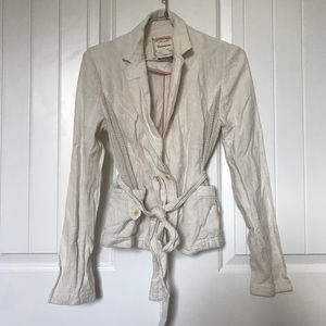 Anthropologie linen Jacket